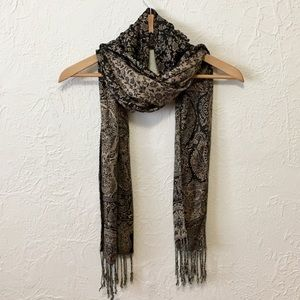 Reversible Cashmere and Silk Scarf
